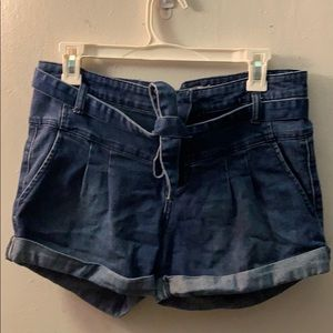 Free People tie Front shorts